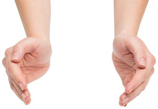 Hands presenting