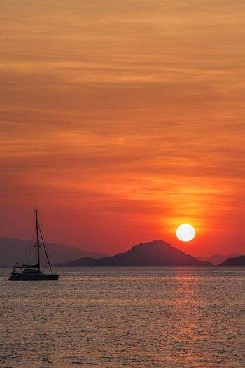 Sunset on Flores island in Komodo national park