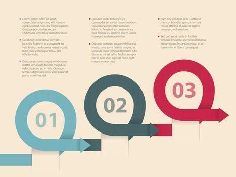 Curling arrows infographic design