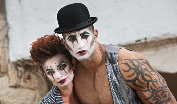 Two Bizarre Comedy Performers
