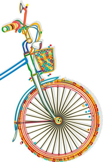 Bicycle funcky style template with copy space