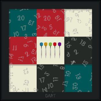 Conceptual dart board graphic design