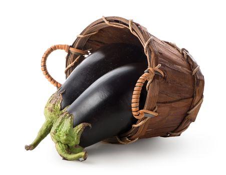 Eggplants in a basket