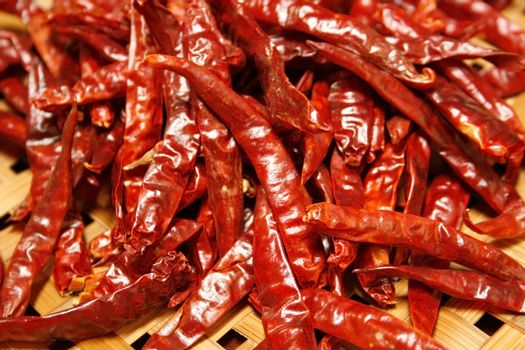 Dried red chilli, food ingredient