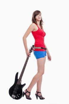girl with bass guitar