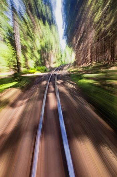 narrow gauge railroad track