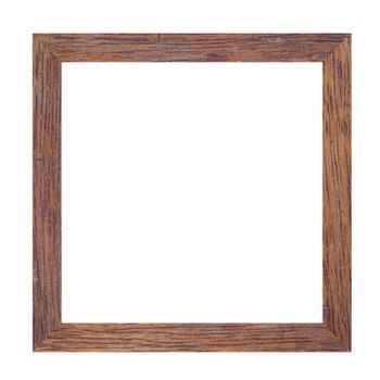Picture frame of solid wood isolated on white background.