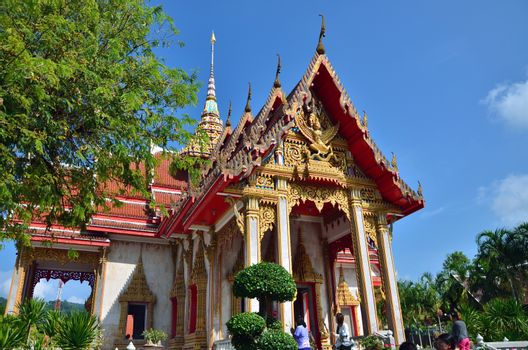Phuket, Thailand - April 15, 2014 : Wat Chaitharam or Wat Charong temple in Phuket