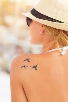 Woman with nice tattoo
