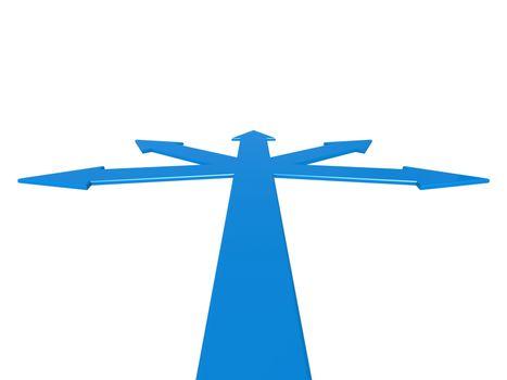 Blue road junction