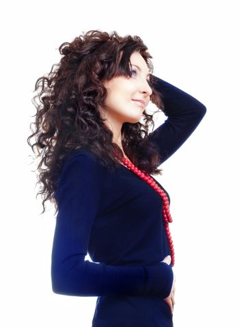 portrait of a girl with curly hair