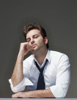 concerned businessman