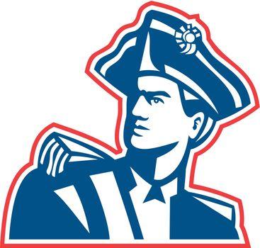 American Patriot Soldier Bust Retro