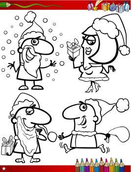 christmas themes coloring page