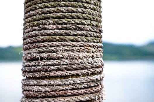 Rope on wood