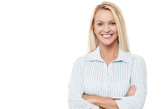 Corporate lady isolated over white
