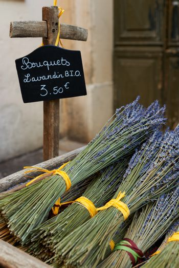 Dry lavender bouquets in Provence