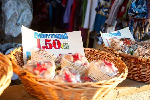 Sale in a souvenir shop