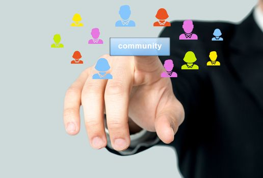 Man accessing his community page