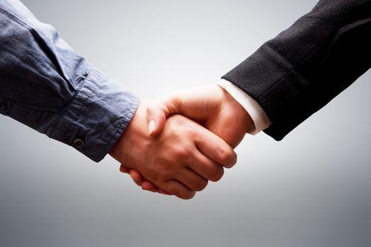 Business handshake. Deal, success, contrac