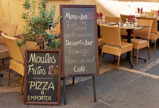 Street restaurant in France