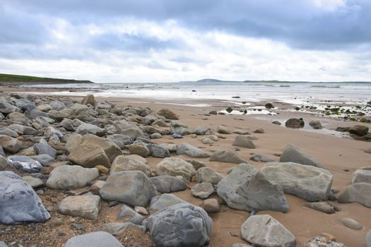 desolate rocky beal beach