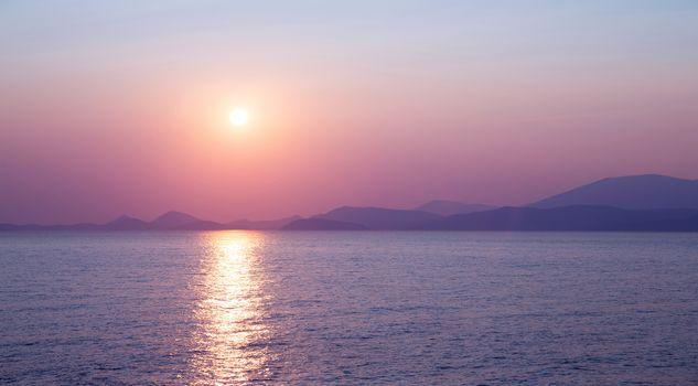 Beautiful purple sunset