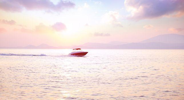 Luxury motorboat
