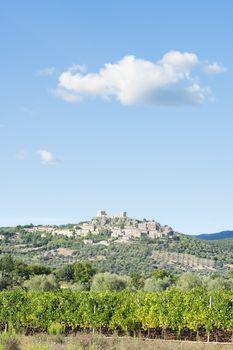 View to Montemassi Tuscany
