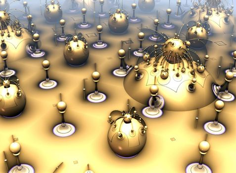 Computer rendered virtual scenery for art and entertainment