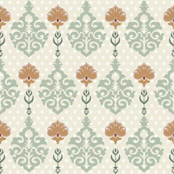 oriental background with floral motifs designed
