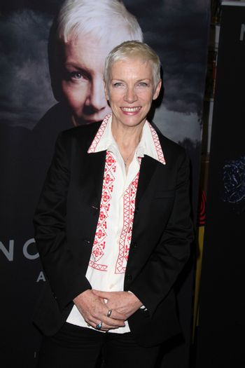 """Annie Lennox at in in-store to sign copies of her new LP """"Nostalgia,"""" Amoeba Records, Hollywood, CA 10-10-14/ImageCollect"""