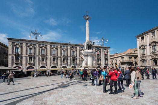 Piazza del Duomo in Catania Italy