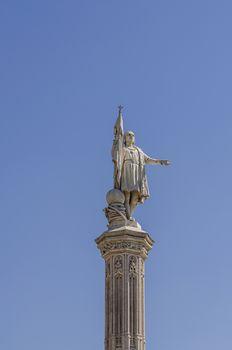 Statue of Columbus in Madrid
