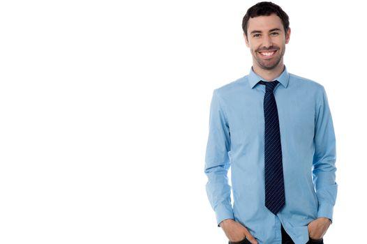 Studio shot of male business executive