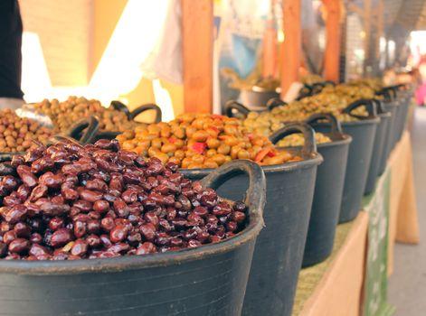 Olives on a market