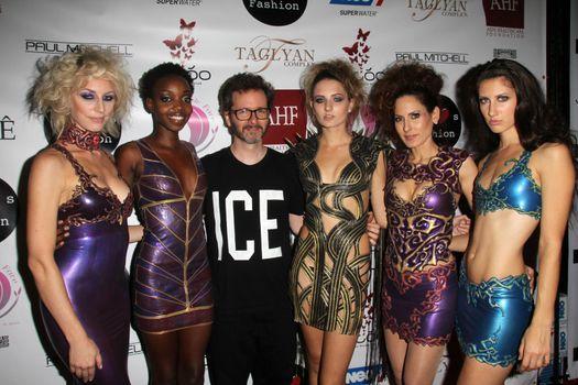 Dan Richter, Kerri Kasem and models at the Dan Richter Fashion Show as part of L.A. Fashion Week, Taglyan Cultural Center, Los Angeles, CA 10-14-14/ImageCollect