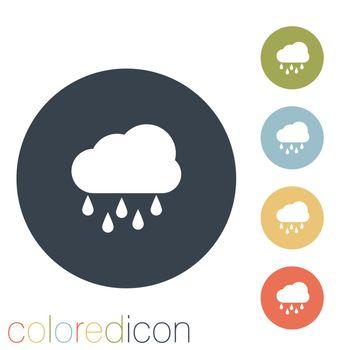 cloud rain. the weather icon