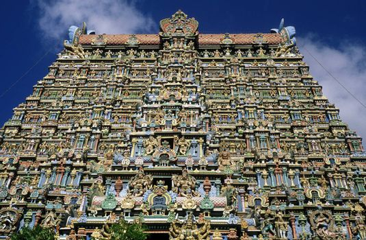 The Sri Meenakshi Temple in the city of   Madurai in Tamil Nadu in India.