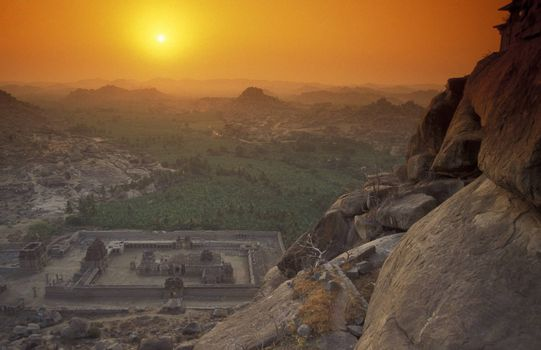 The Ruins of Hampi in the province of Karnataka in India.