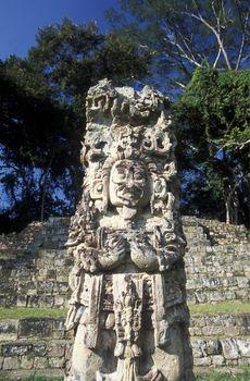 The Ruins of Copan in Honduras in Central America,