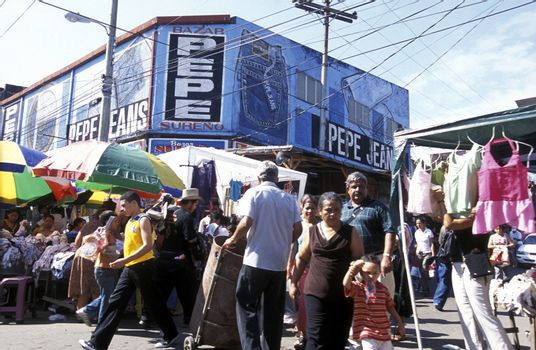 the Market in the centre of the city San Pedro Sula  in Honduras in Central America,