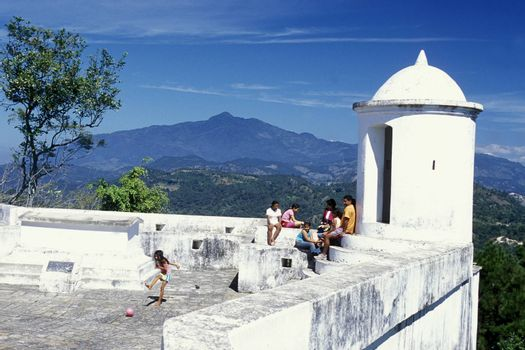 the castle at the Village of Gracias in Honduras in Central America,