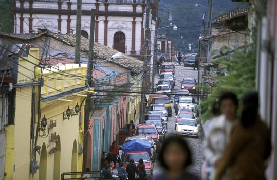 the Village of Santa Rosa de Copan in Honduras in Central America,