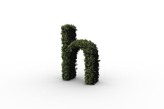 Letter h made of leaves