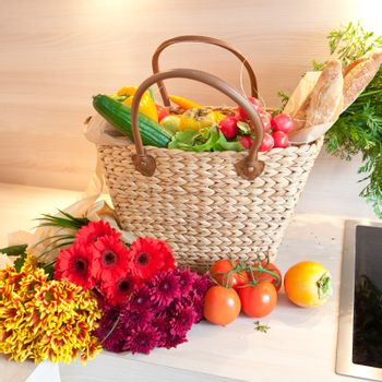 Fresh produce from the farmers market