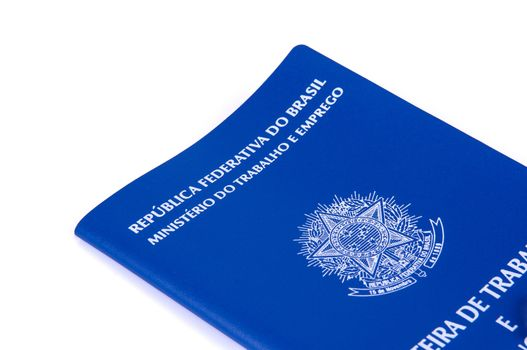 Brazilian work document and social security document (carteira d