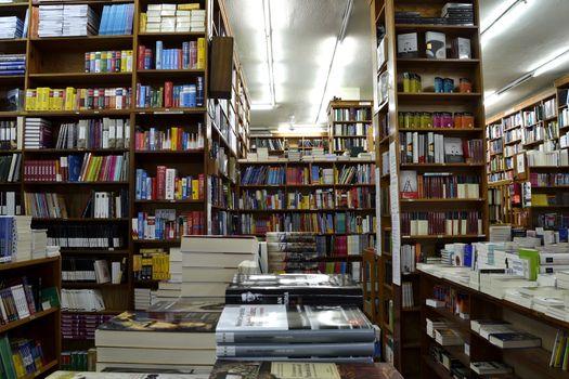 A lot of book in a bookshop