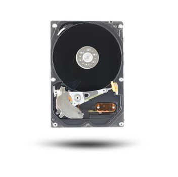 Black Hard disk isolated on white background.