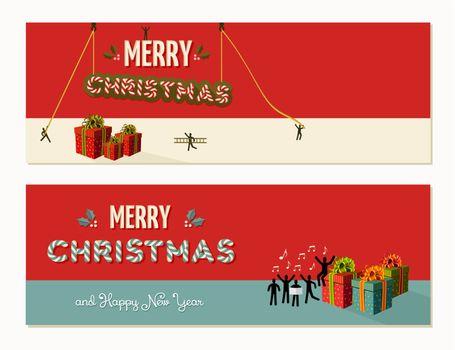 Merry Christmas teamwork cooperation